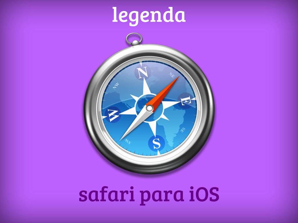 safari para iOS legenda