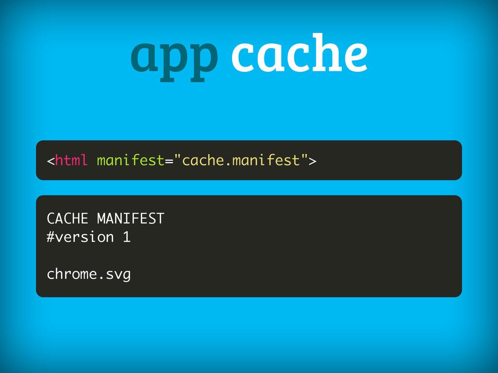 "<html manifest=""cache.manifest""> app cache CACH..."