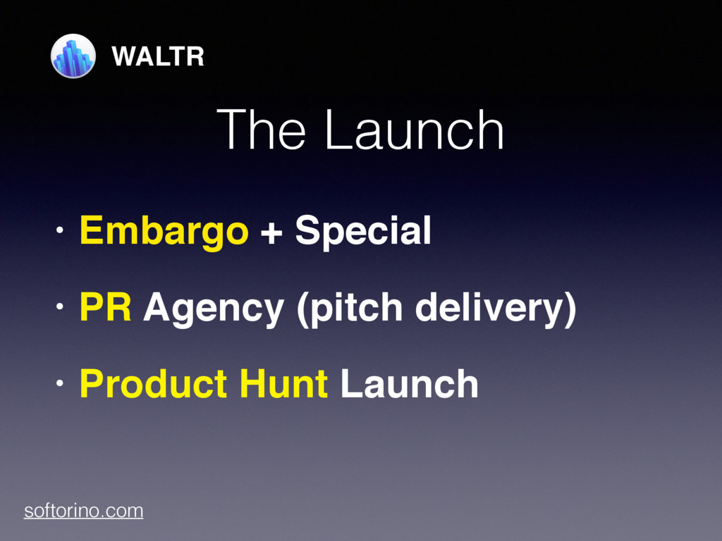 The Launch • Embargo + Special • PR Agency (pit...
