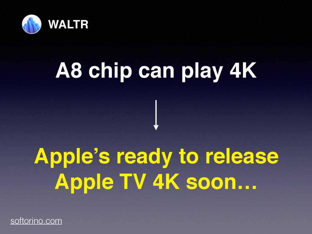 A8 chip can play 4K Apple's ready to release Ap...