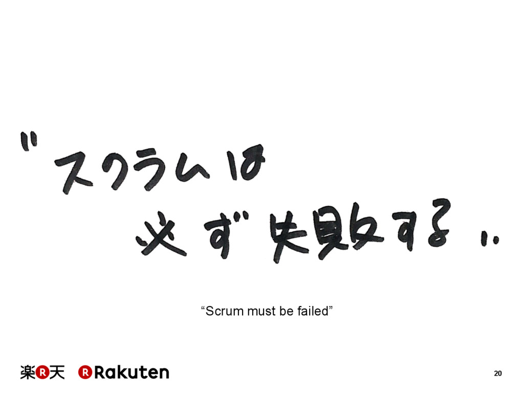 """20 """"Scrum must be failed"""""""