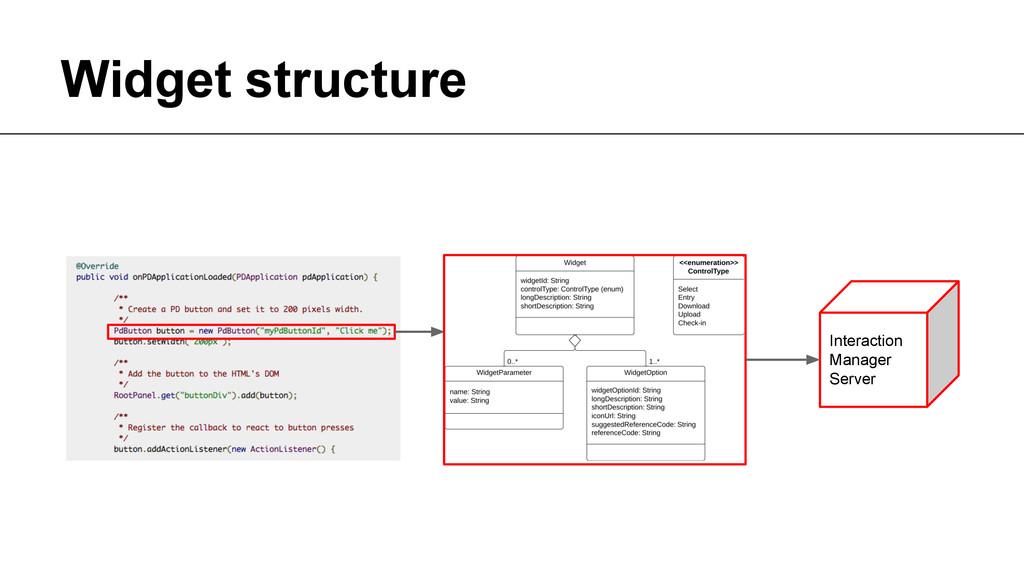 Widget structure Author unknown. Taken from htt...