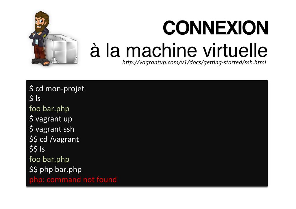 CONNEXION à la machine virtuelle! $ cd m...