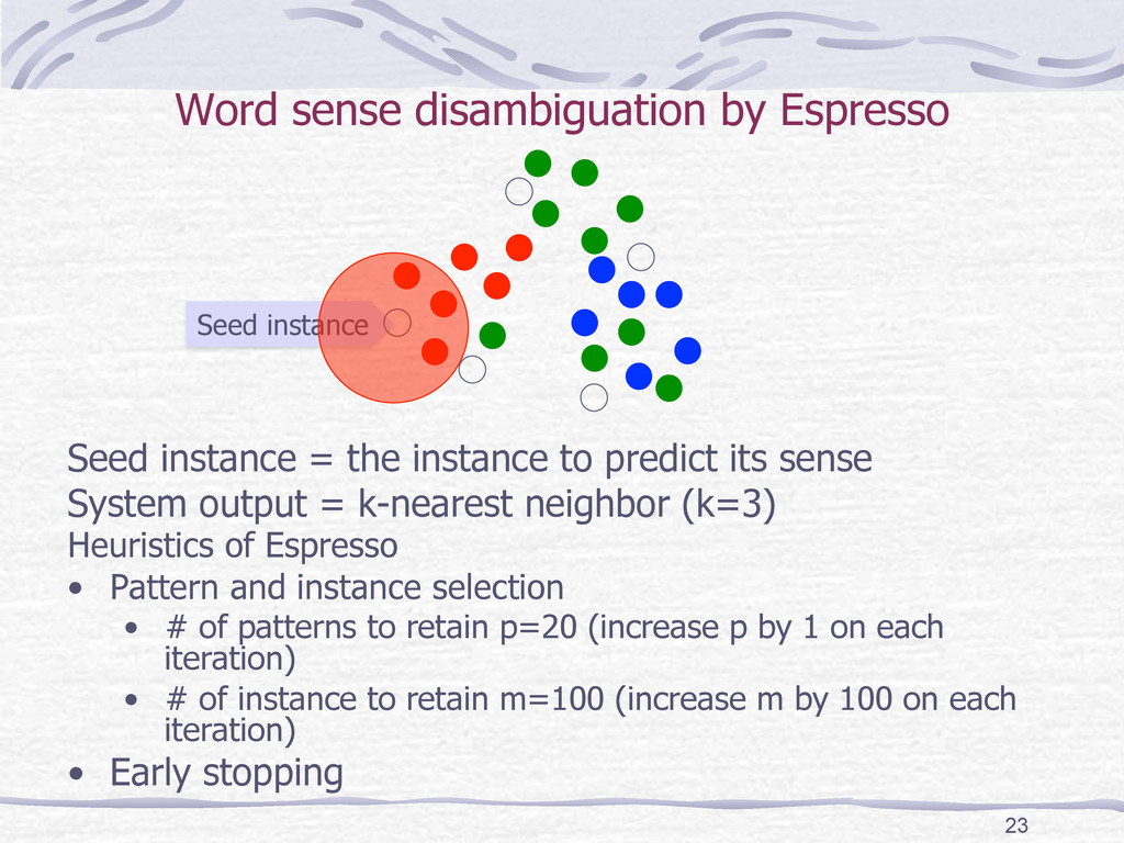 Seed instance Word sense disambiguation by Es...