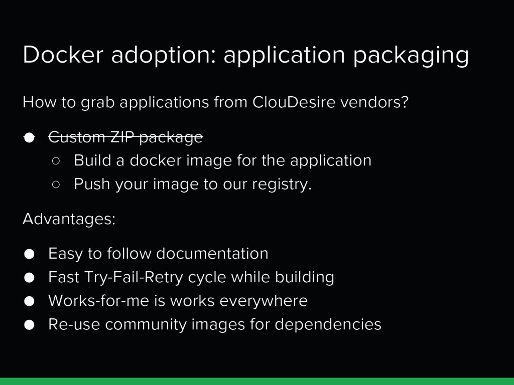Docker adoption: application packaging How to g...