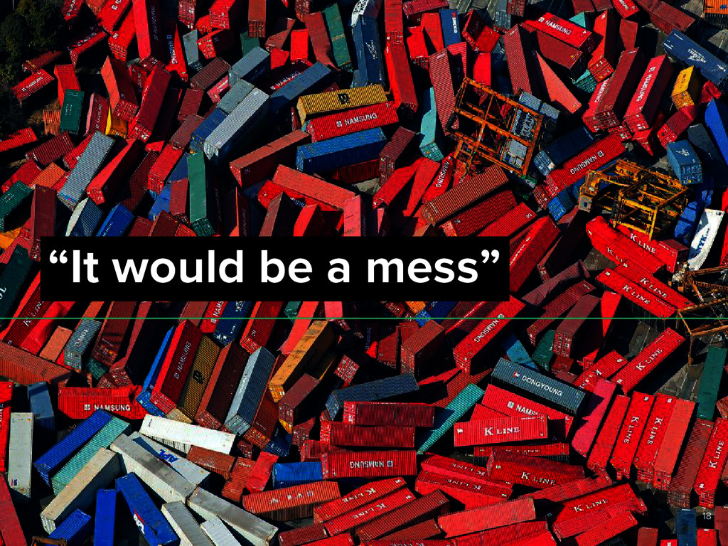 """It would be a mess"" 18"