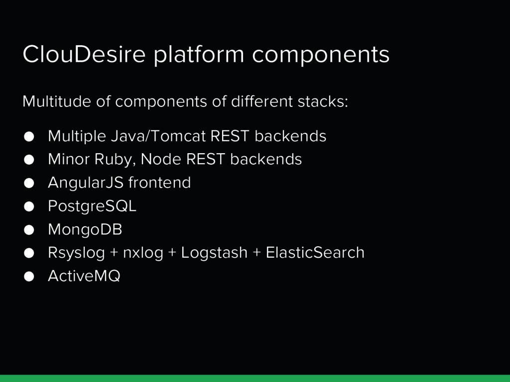 ClouDesire platform components Multitude of com...