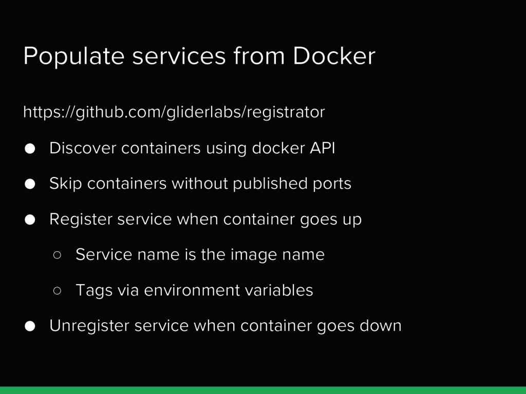 Populate services from Docker https://github.co...