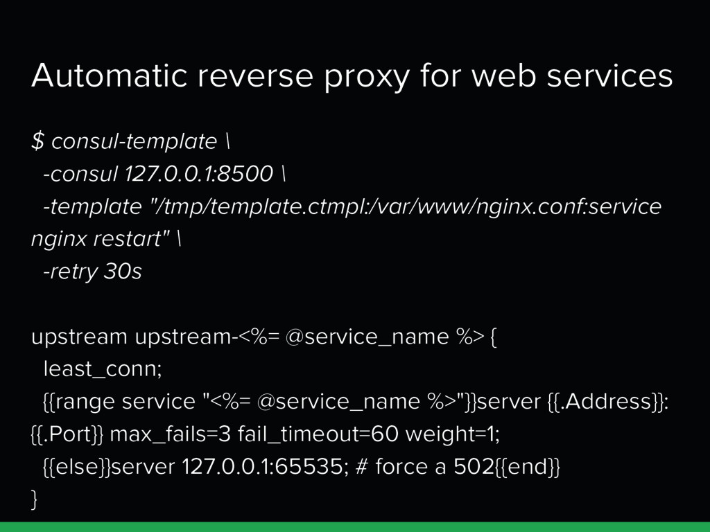 Automatic reverse proxy for web services $ cons...