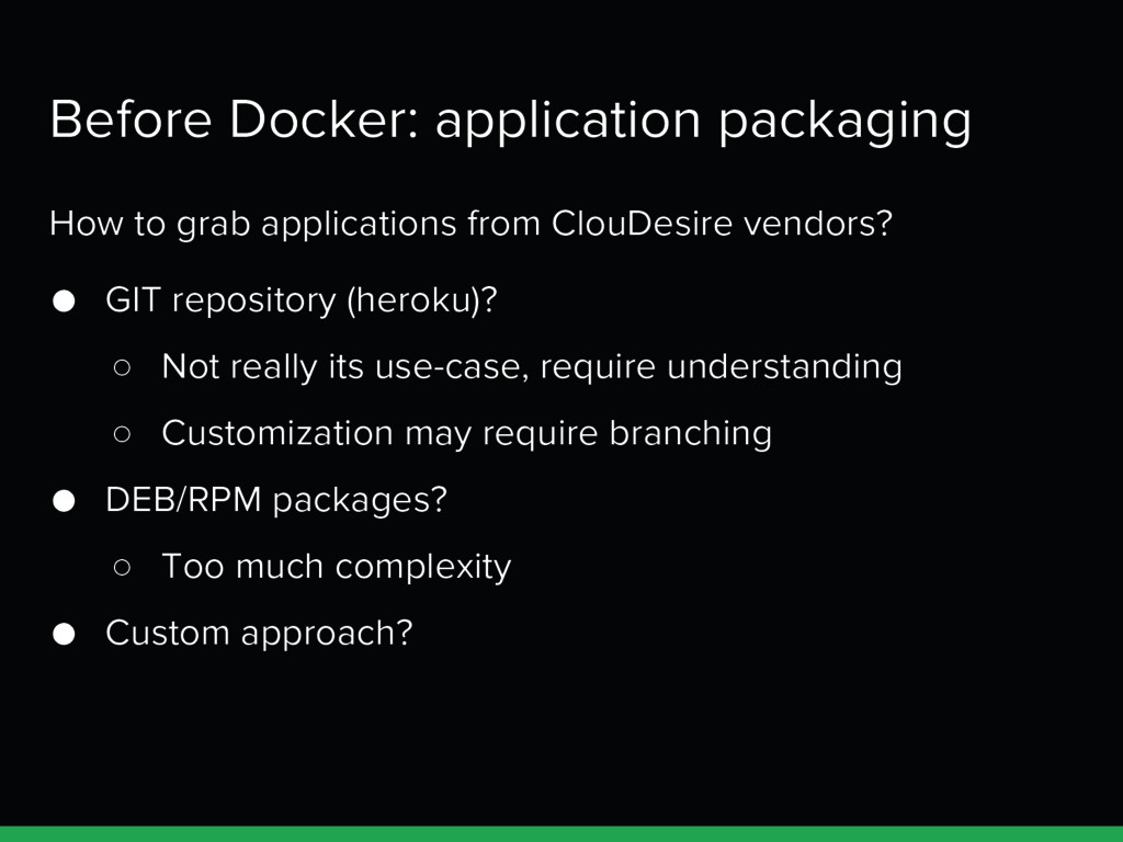 Before Docker: application packaging How to gra...