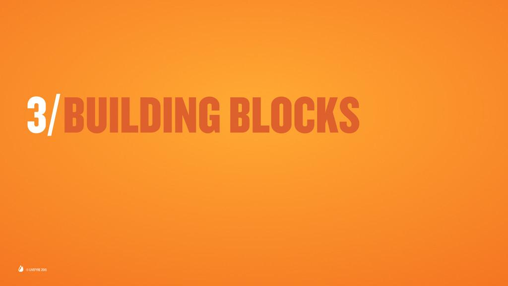 © LIVEFYRE 2015 3/BUILDING BLOCKS