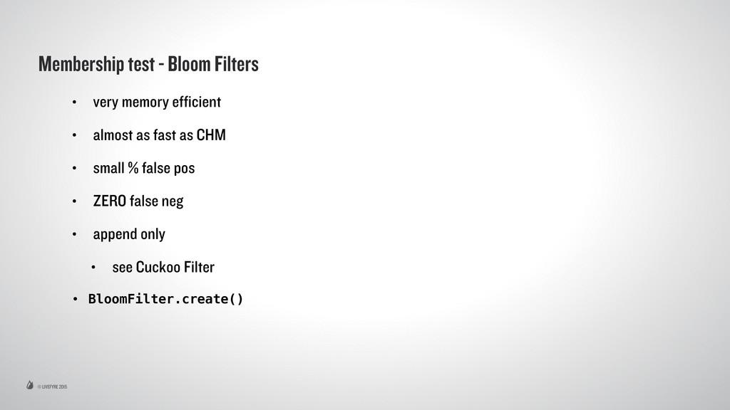© LIVEFYRE 2015 Membership test - Bloom Filters...