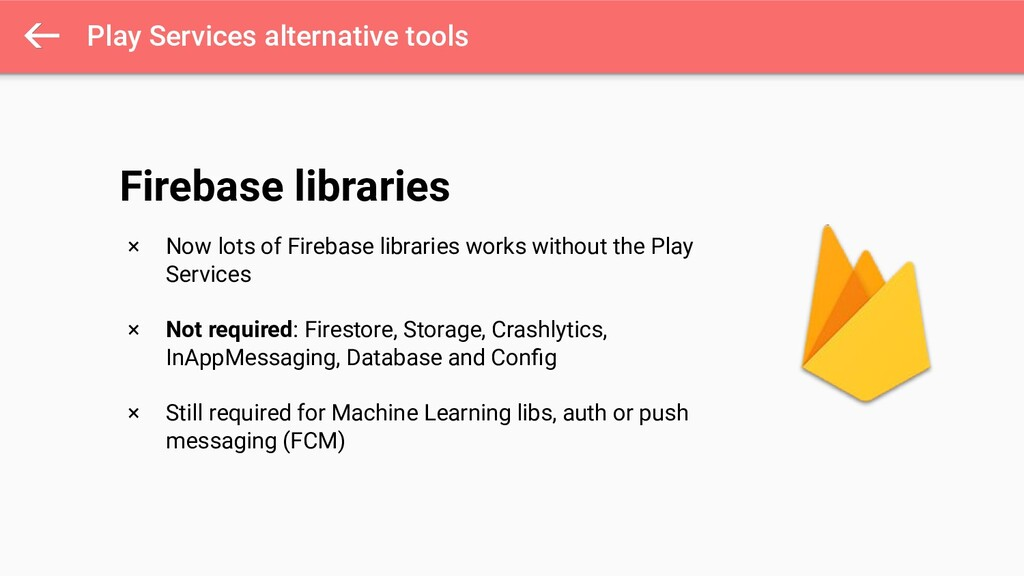 Play Services alternative tools × Now lots of F...