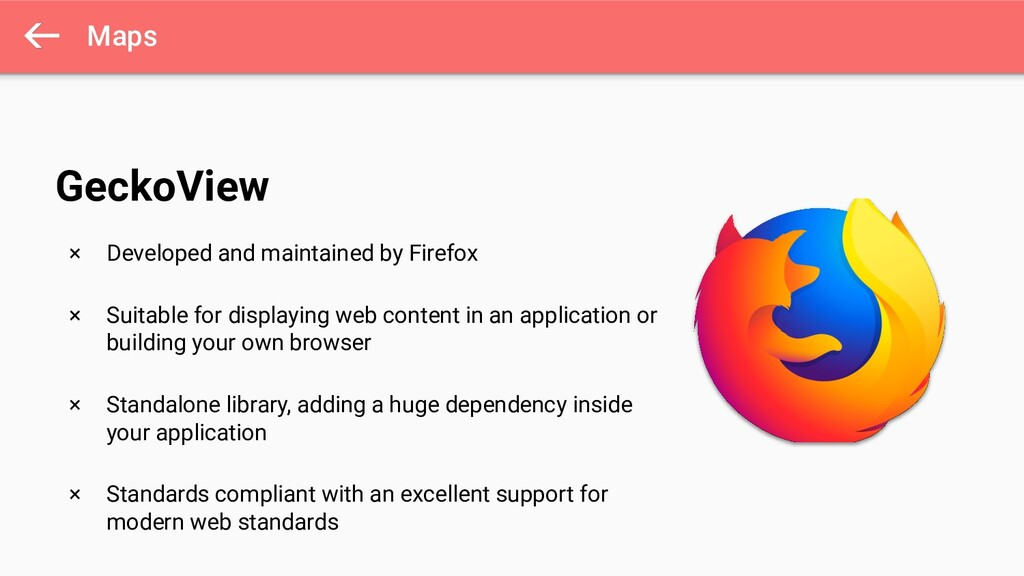 Maps × Developed and maintained by Firefox × Su...