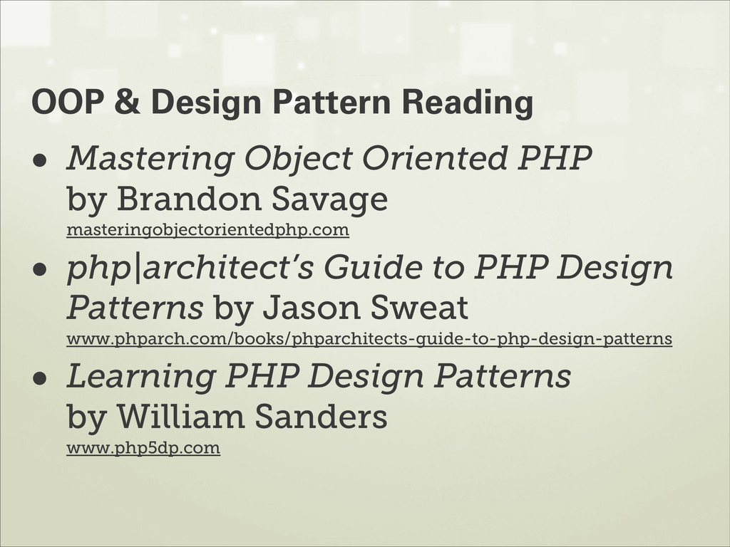 • Mastering Object Oriented PHP by Brandon Sav...