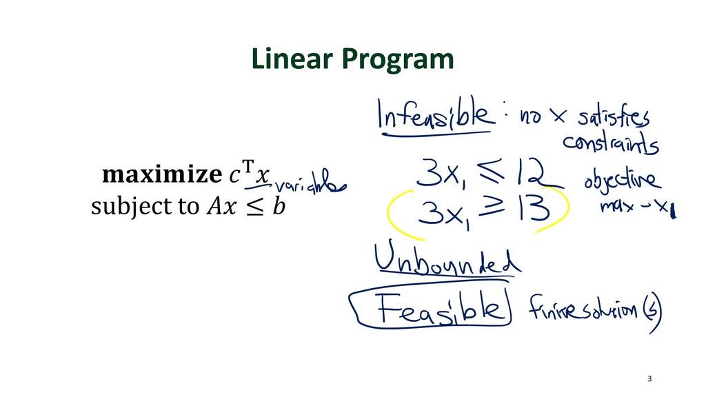 Linear Program 3  ) subject to  ≤