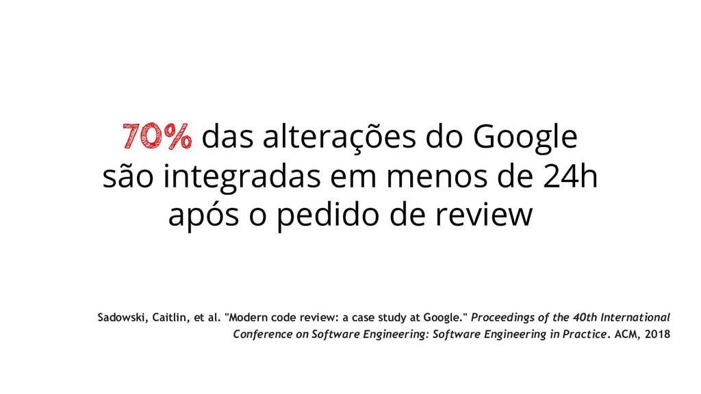 70% das alterações do Google são integradas em ...