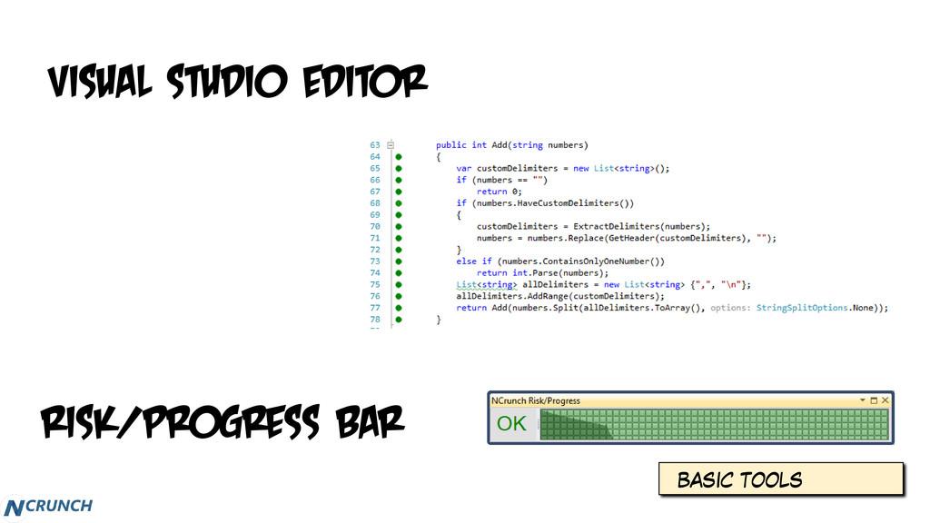 BASIC TOOLS Risk/progress Bar Visual Studio Edi...