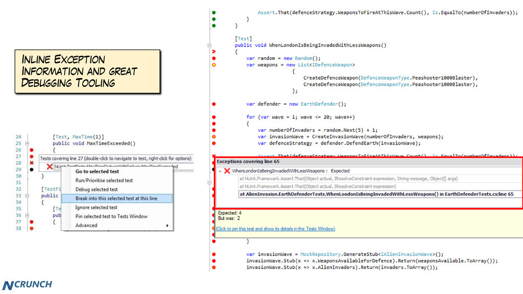 Inline Exception Information and great Debuggin...