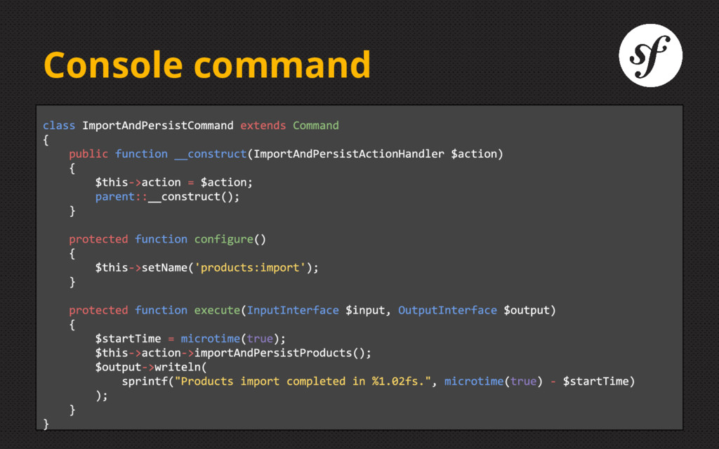 Console command