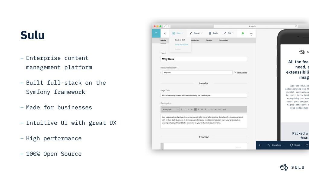 Sulu – Enterprise content management platform –...