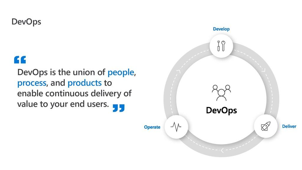 DevOps DevOps is the union of people, process, ...