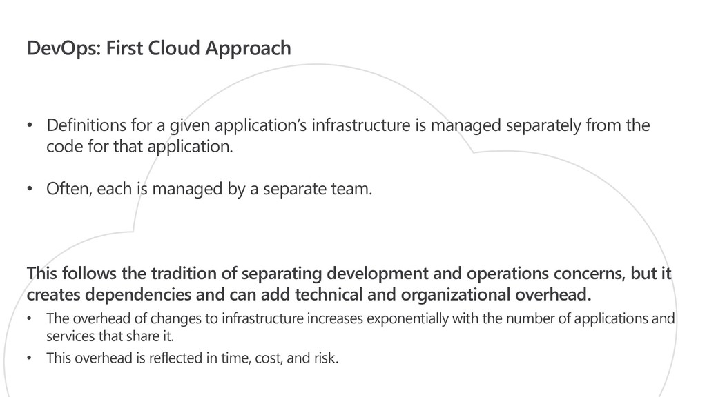DevOps: First Cloud Approach • Definitions for ...