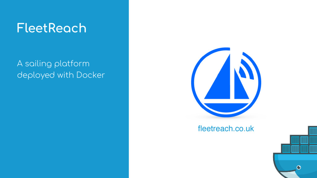 A sailing platform deployed with Docker FleetRe...
