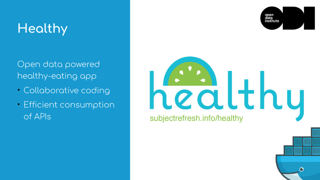 Open data powered healthy-eating app • Collabor...