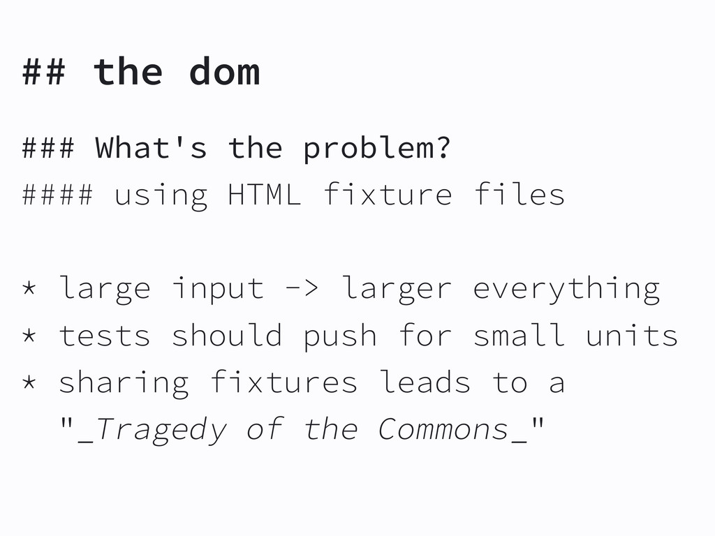 ## the dom ### What's the problem? #### using H...