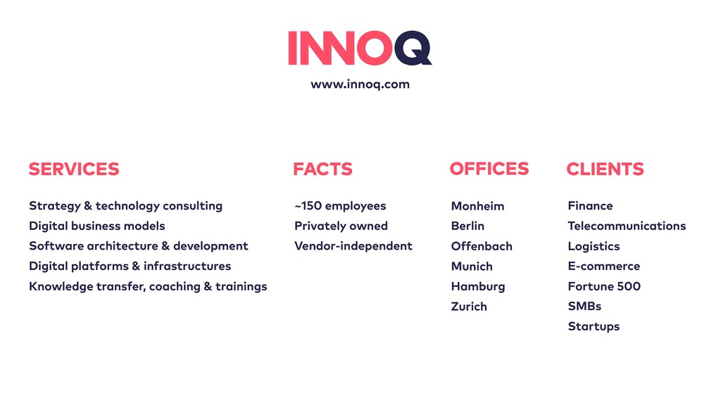 www.innoq.com OFFICES Monheim Berlin Offenbach ...