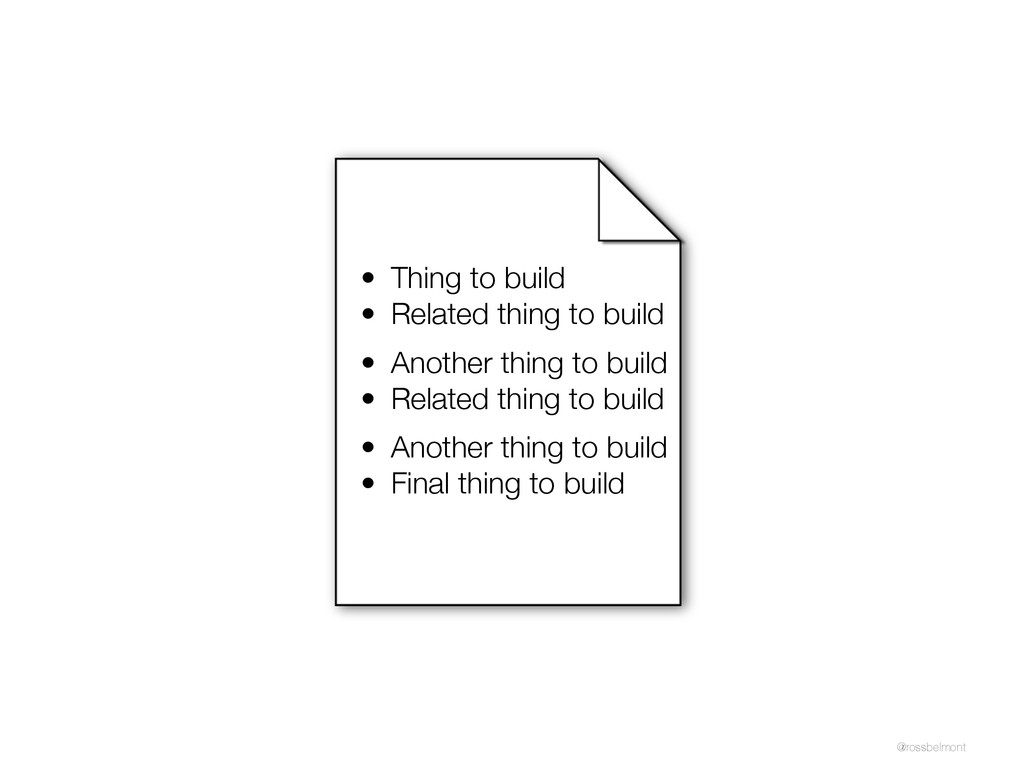 @rossbelmont • Thing to build • Related thing t...