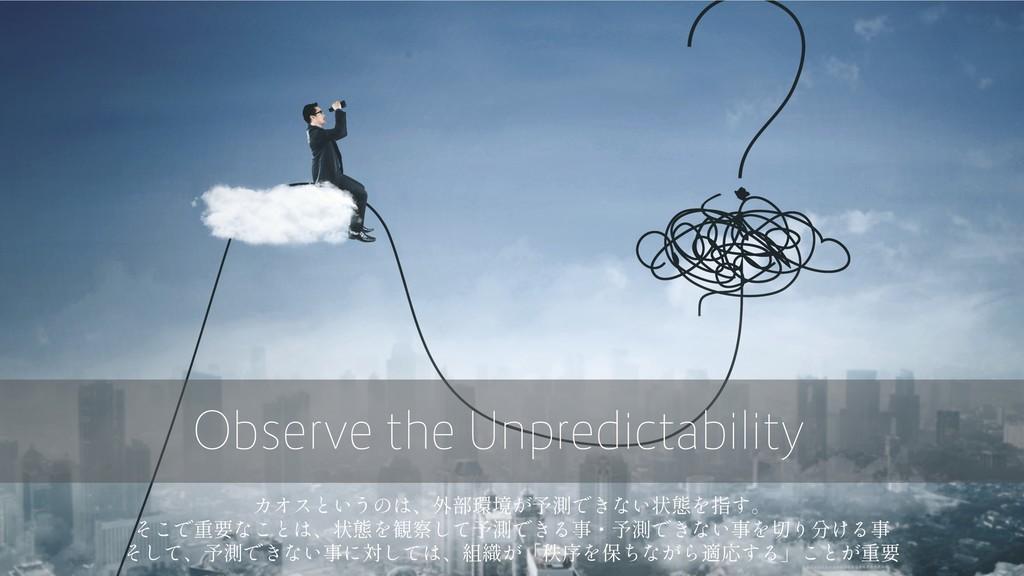 Observe the Unpredictability
