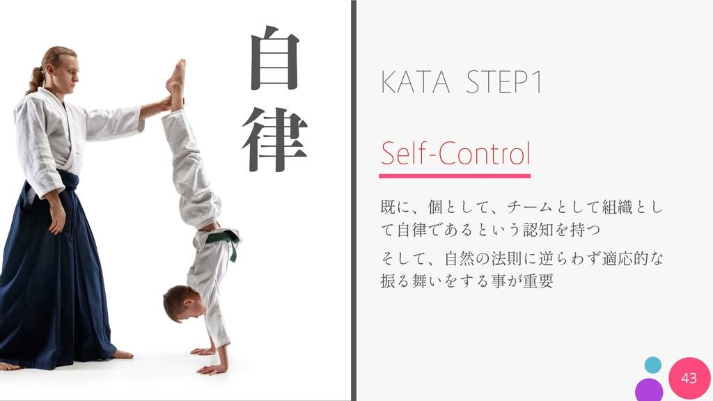 KATA STEP1 Self-Control 43 ࣗ 