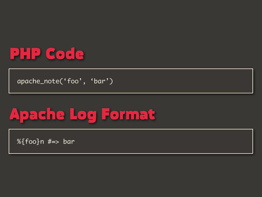 %{foo}n #=> bar apache_note('foo', 'bar') PHP C...