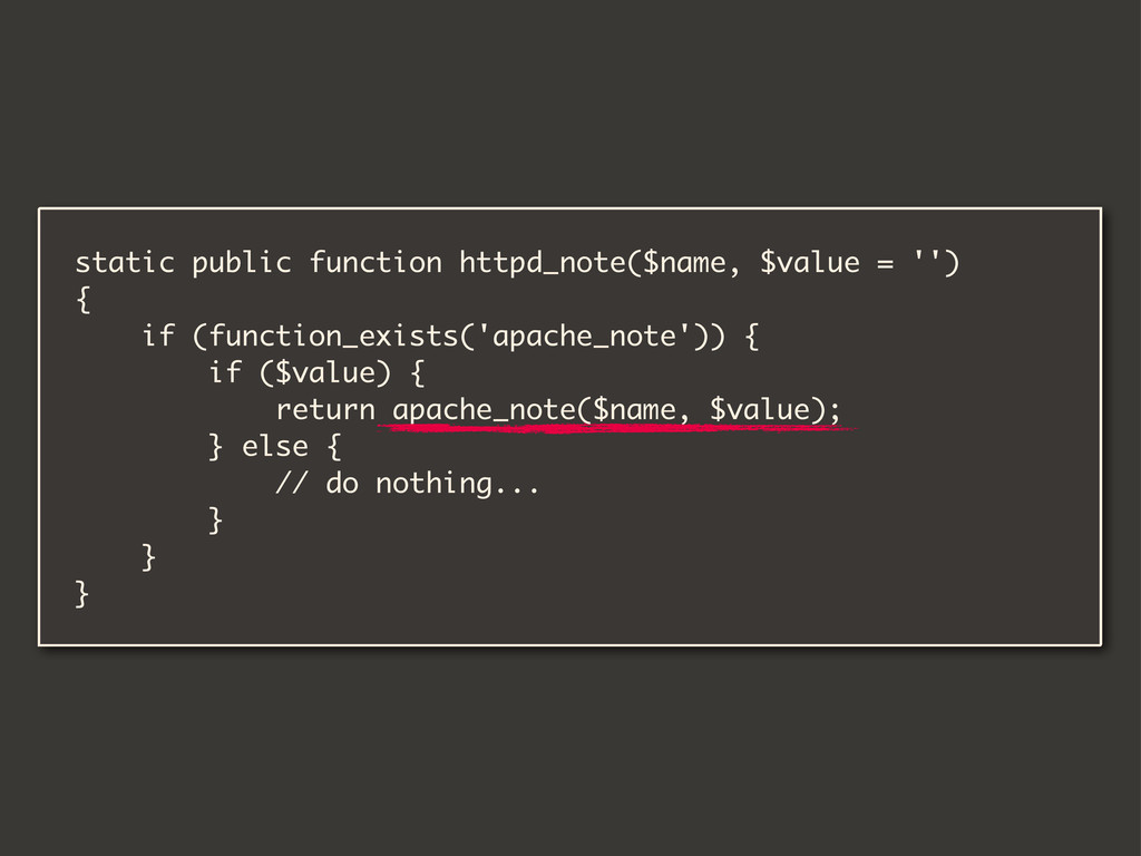 static public function httpd_note($name, $value...