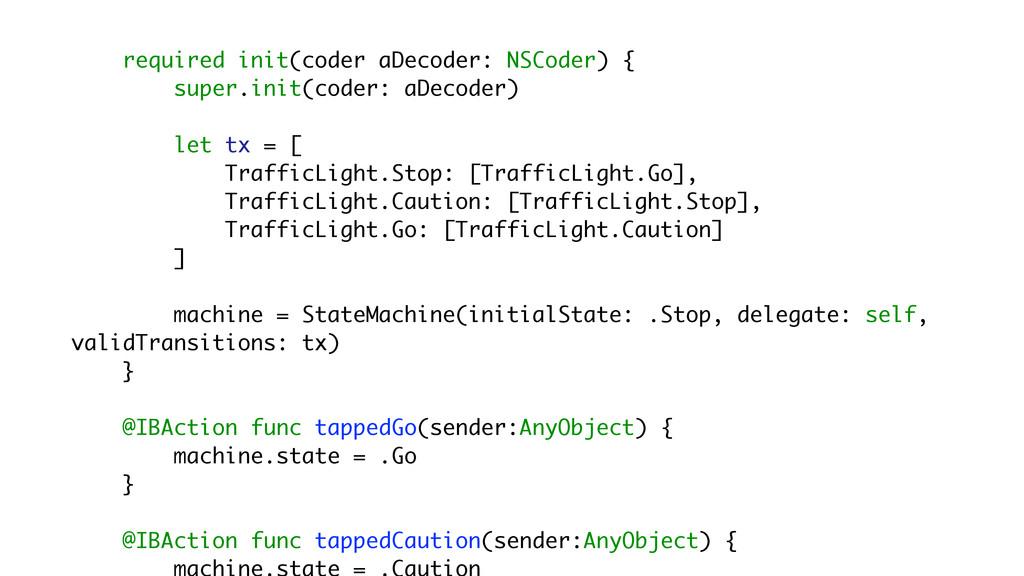 required init(coder aDecoder: NSCoder) { super....
