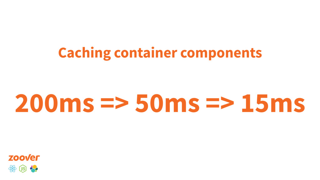 Caching container components 200ms => 50ms => 1...