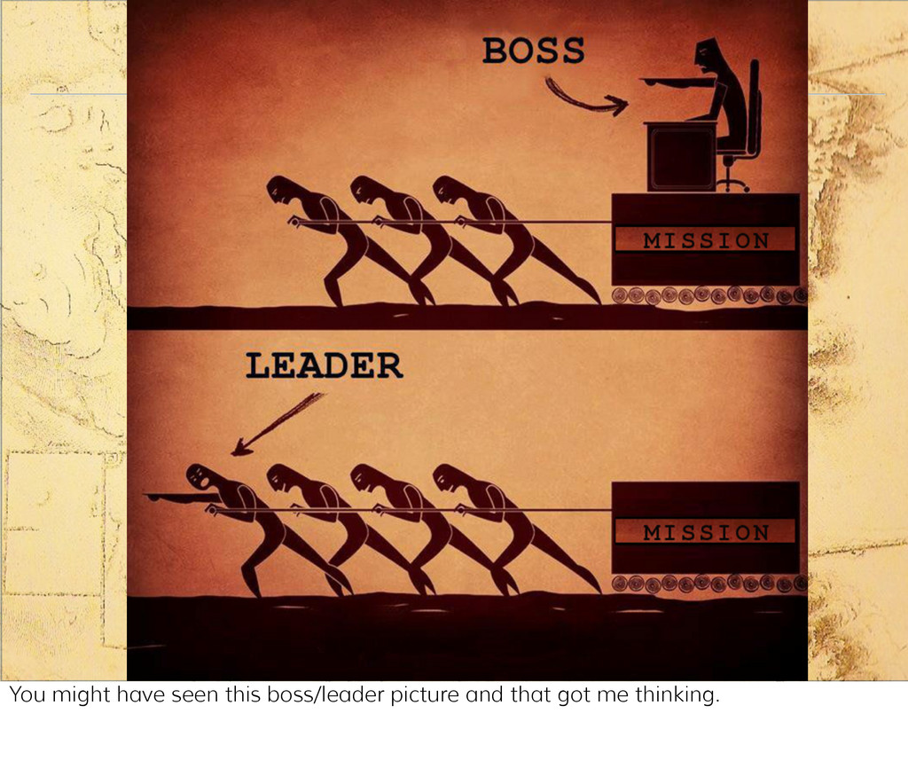 Leader / boss You might have seen this boss/lea...