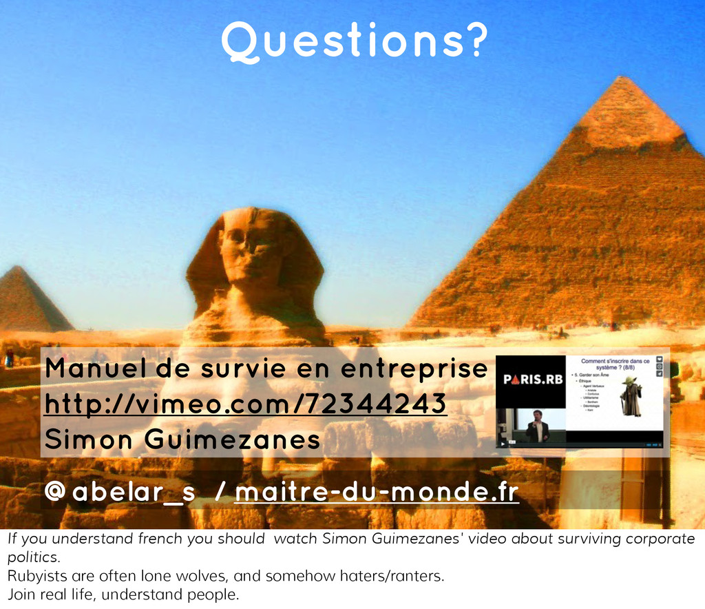 You're building pyramids! Questions? Manuel de ...