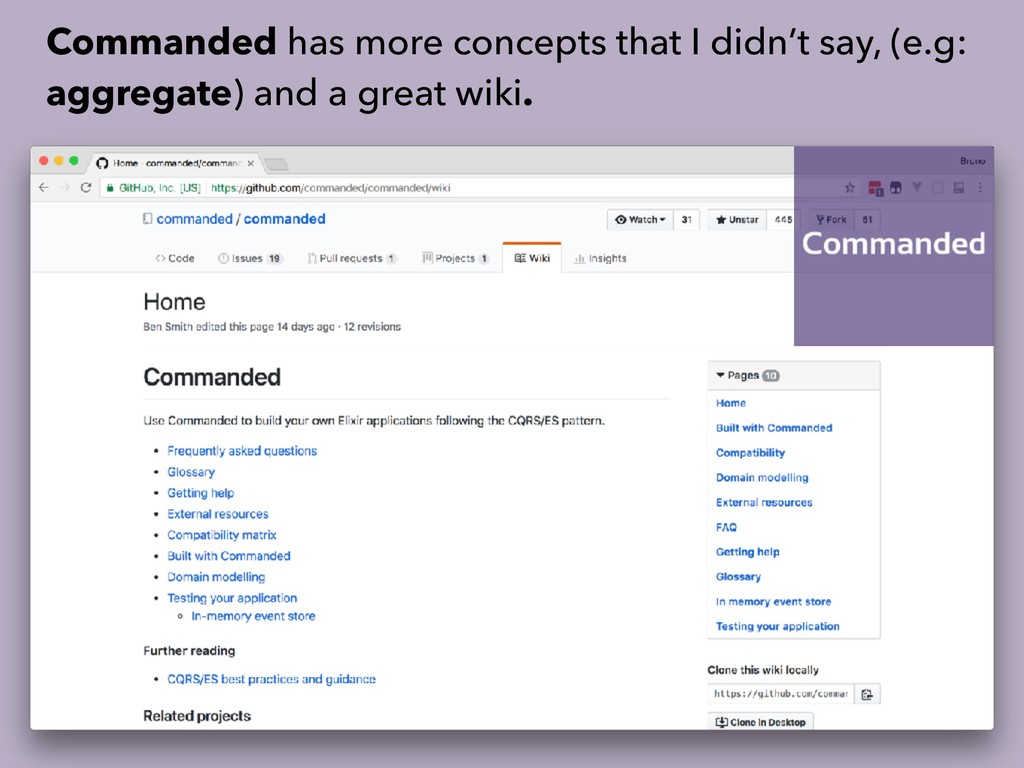Commanded has more concepts that I didn't say, ...