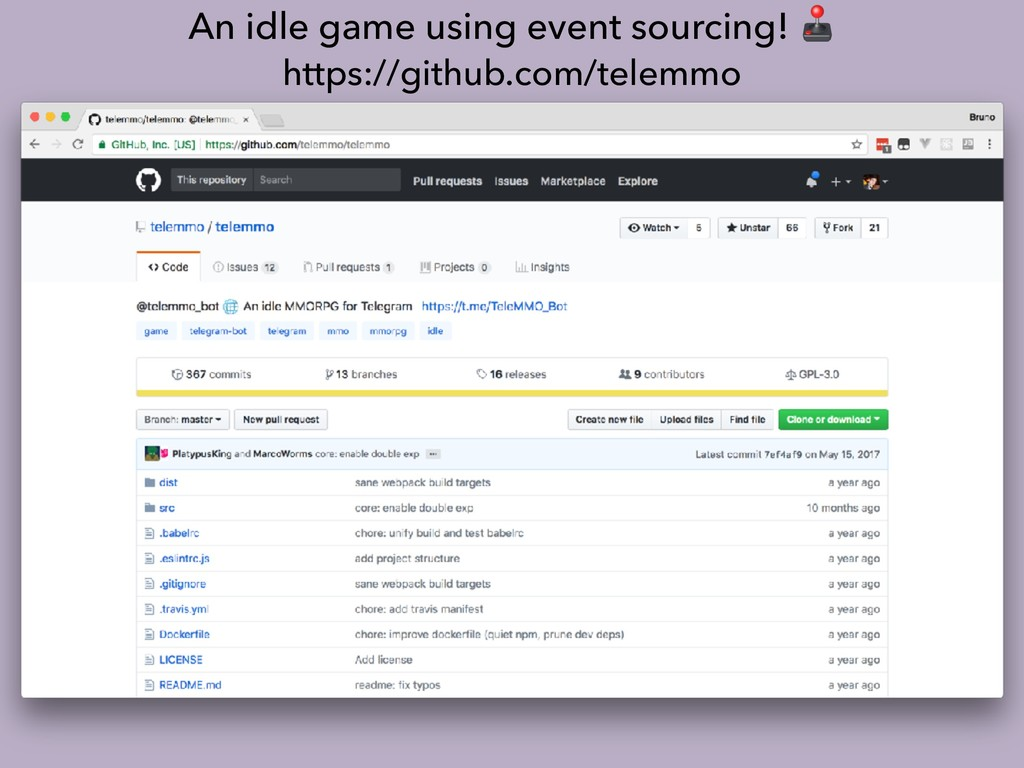 An idle game using event sourcing!  https://git...
