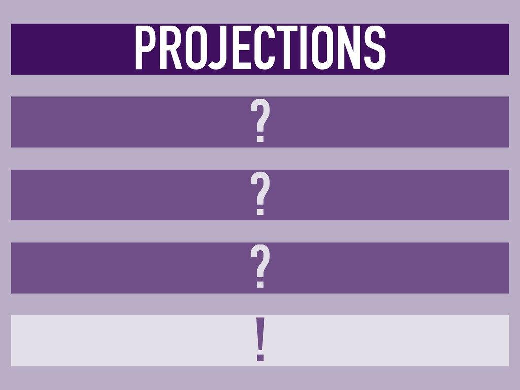 ? ! PROJECTIONS ? ?