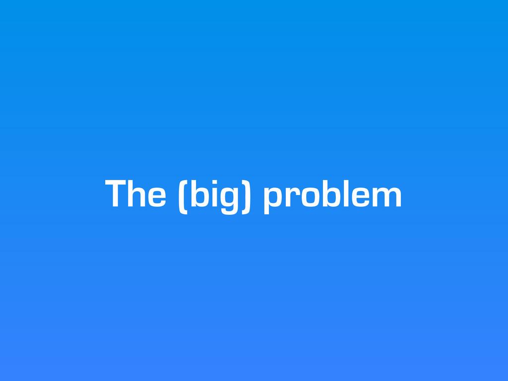 The (big) problem