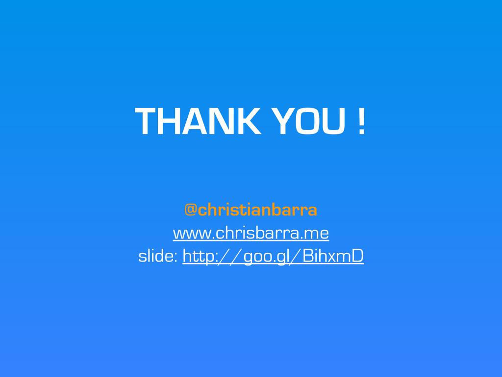 THANK YOU ! @christianbarra www.chrisbarra.me s...
