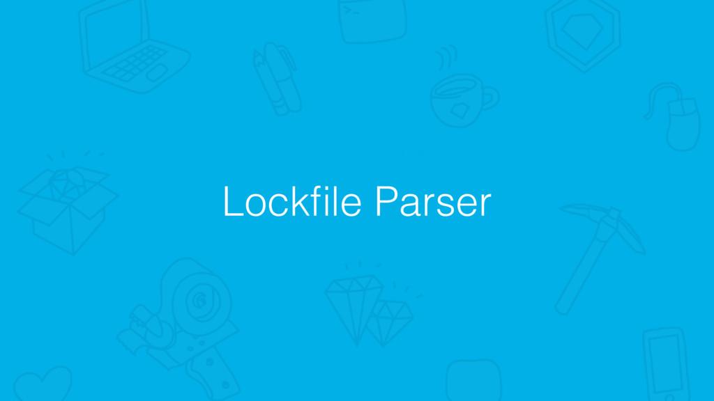 Lockfile Parser