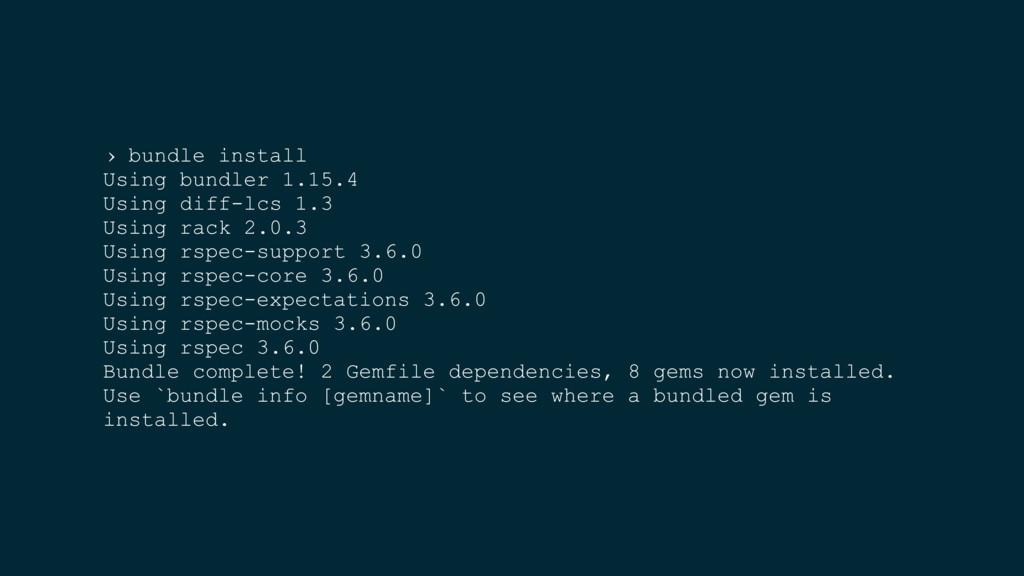 › bundle install Using bundler 1.15.4 Using dif...