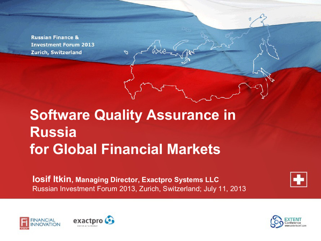 Software Quality Assurance in Russia for Global...