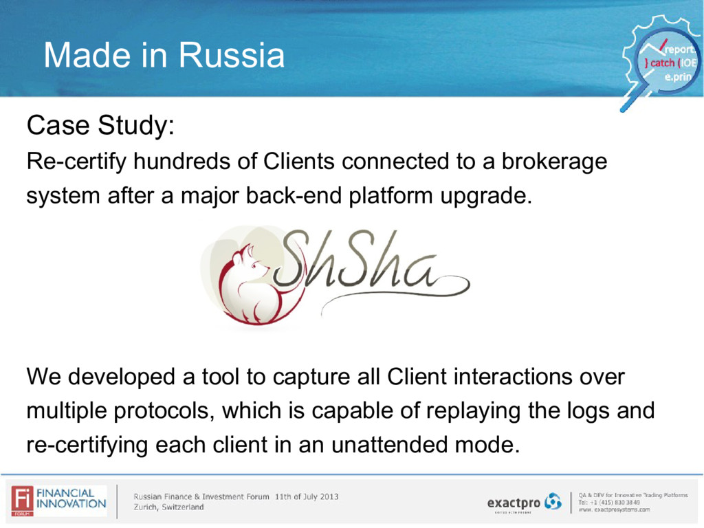 Made in Russia Case Study: Re-certify hundreds ...