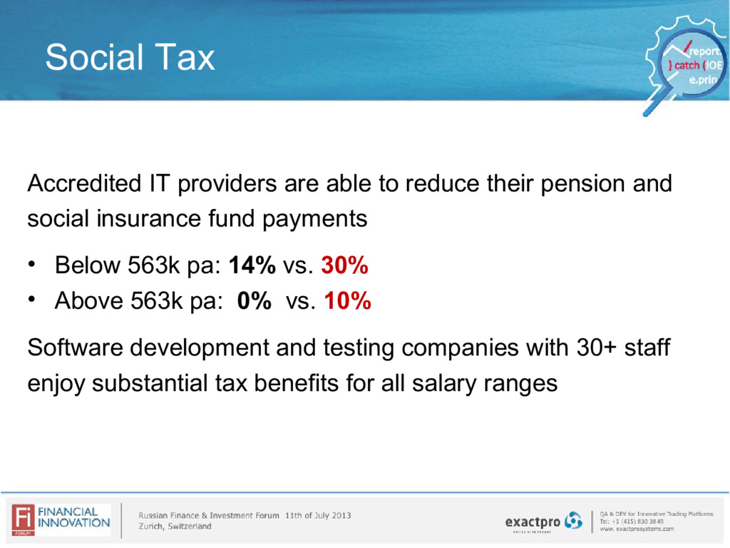 Social Tax Accredited IT providers are able to ...